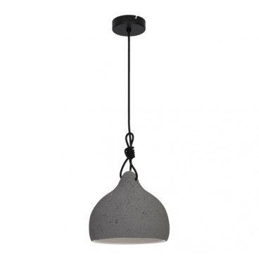 Lampa wisząca GoodHome Aulavik 1-punktowa E27 szara