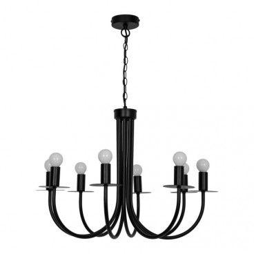 Lampa wisząca GoodHome Mashatu 8-punktowa E14 czarna