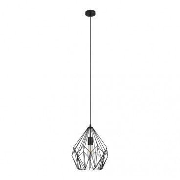 Lampa wisząca GoodHome Phobeto 1-punktowa E27 czarna