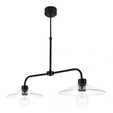 Lampa wisząca GoodHome Zanbar 2-punktowa E27 czarna