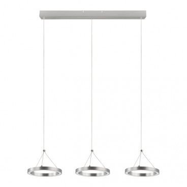 Lampa wisząca LED GoodHome Taphao 3-punktowa chrom