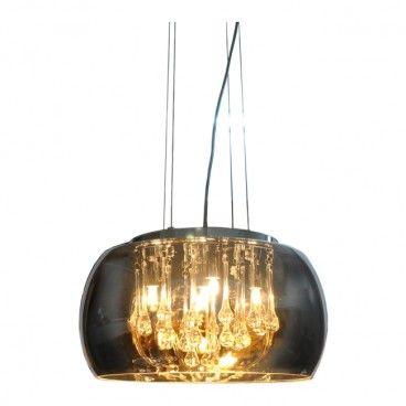 Lampa wisząca Romeo 5 x 20 W G9 czarna