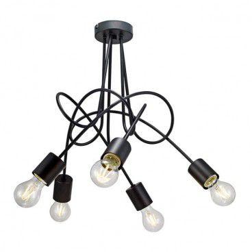 Lampa wisząca Tango 5 x 60 W E27 czarna