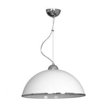 Lampa wisząca kuchenna Luminex 1 x 60 W E27 biała