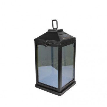 Latarnia solarna LED z siatką czarna