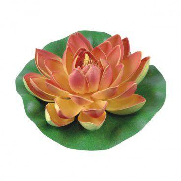 Lilia wodna z gąbki Greenmill fi 19 cm pomarańczowa