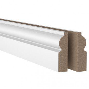 Listwa maskująca MDF 18 x 69 x 2100 mm torus biała