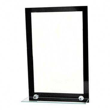 Lustro Nero 40 x 60 cm z oświetleniem i półką