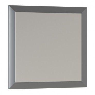 Lustro kwadratowe Mirano Vena 60 x 60 cm w ramie szare
