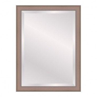 Lustro prostokątne Scandi 50 x 70 cm w ramie ecru