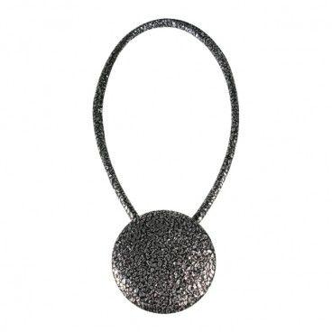 Magnes dekoracyjny XL czarno-srebrny
