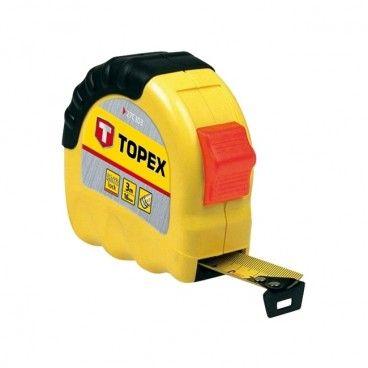 Miara stalowa Topex 5 m x 19 mm z blokadą