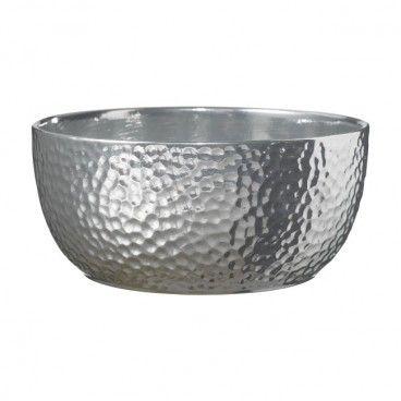 Misa na doniczkę Boston 20 cm srebrna