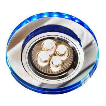 Oczko LED 1 x 50 W GU10 niebieskie