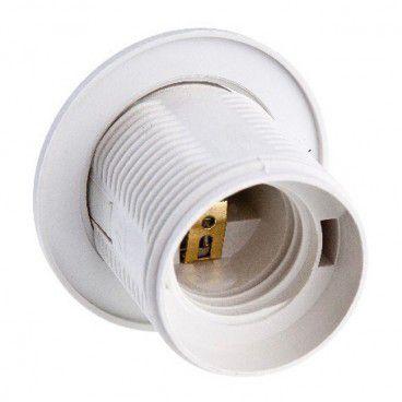 Oprawka E27 E19-E27-PW02 z pierścieniem biała