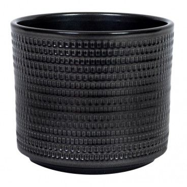 Osłonka doniczki Cermax Calla cylinder 14 cm stare srebro
