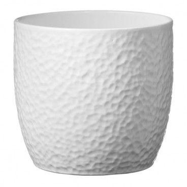 Osłonka doniczki SK Soendgen Keramik Boston śr. 19 cm biała
