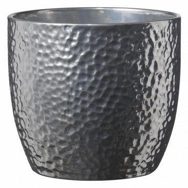 Osłonka doniczki SK Soendgen Keramik Boston śr. 21 cm srebrna