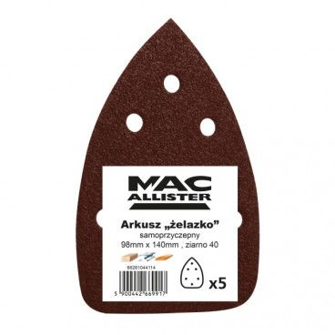 Papier żelazko MacAllister 98 x 140 mm A21 P40 5 szt.