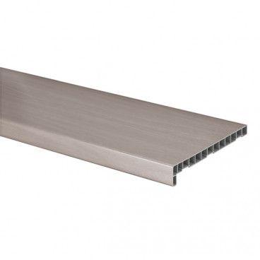 Parapet wewnętrzny PVC Geom 25 x 186 cm dąb bielony
