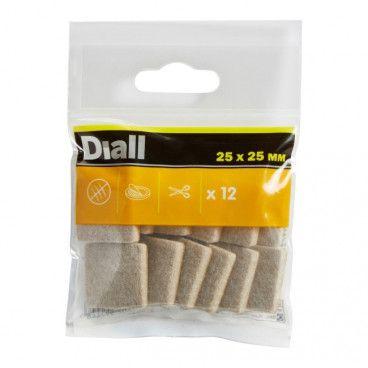 Podkładki samoprzylepne Diall filcowe 25 x 25 mm beżowe 12 szt.