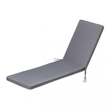 Poduszka na leżak Blooma 55 x 6 x 190 cm antracyt