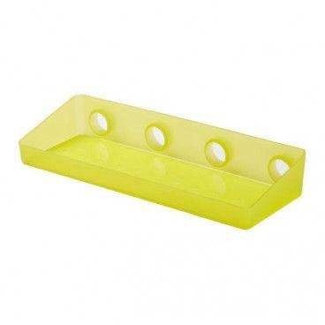 Półka prostokątna GoodHome Koros żółta