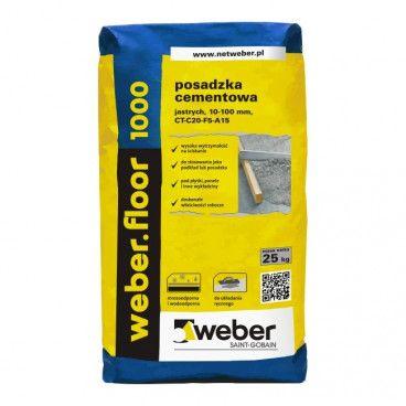 Posadzka cementowa Weber Saint-Gobain Floor 1000 25 kg