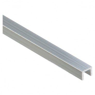 Profil Cezar forma U 10 x 8 x 1,5 mm 1 m aluminium naturalne