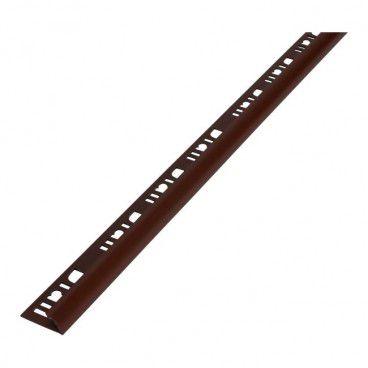 Profil PCV narożny Diall 9 mm zewnętrzny brązowy ciemny 2,5 m