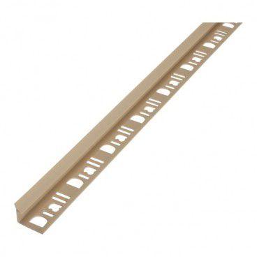 Profil PVC narożny Diall 9 mm wewnętrzny beżowy jasny 2,5 m