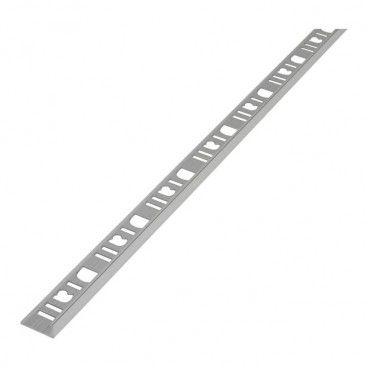 Profil aluminiowy narożny Diall 8 mm typ L chrom 2,5 m