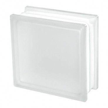Pustak szklany Seves 19 x 19 x 8 cm bezbarwny gładki mat