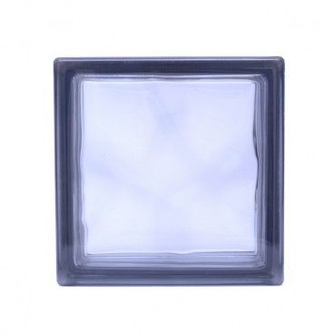 Pustak szklany Seves barwiony szary 19 x 19 x 8 cm