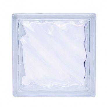 Pustak szklany Seves bezbarwny Fala 19 x 19 x 8 cm