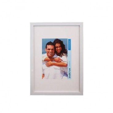 Ramka na zdjęcia 10 x 15 cm połysk biała