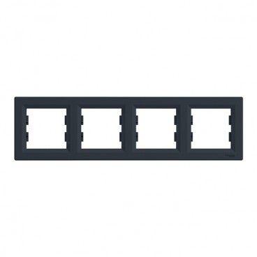 Ramka poczwórna Schneider Electric Asfora pozioma antracyt
