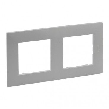 Ramka podwójna Legrand Niloe Step aluminium