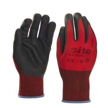 Rękawice nylonowe Site czerwone XL