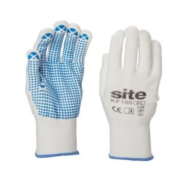 Rękawice nylonowe Site kropka PCV 5 par