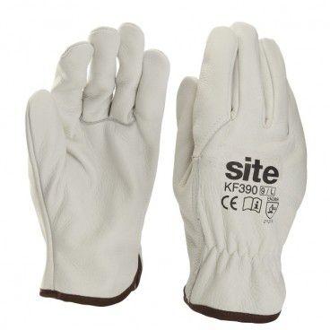Rękawice skórzane Site szare XL T10