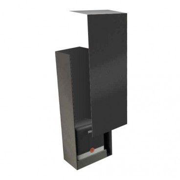 Skrzynka na automat do bramy przesuwnej czarna