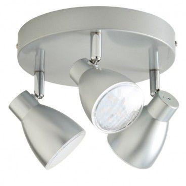 Spot Colours Bomos 3 x LED srebrny