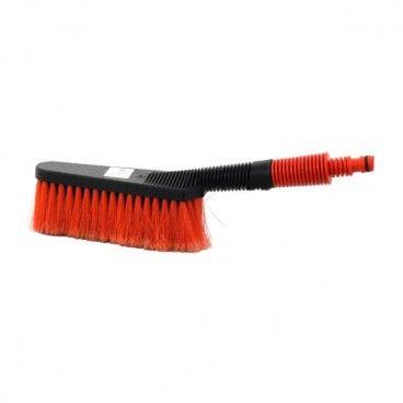Szczotka do mycia samochodu czarna z czerwonym włosiem