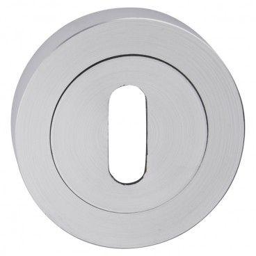 Szyld drzwiowy Metalbud okrągły na klamkę nikiel szczotkowany