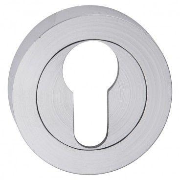 Szyld drzwiowy Metalbud okrągły na wkładkę nikiel szczotkowany