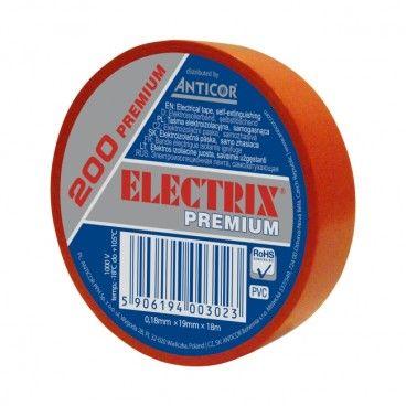 Taśma izolacyjna PCV Electrix 200 0,18 mm x 19 mm x 18 m czerwona