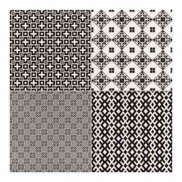 Terakota Collage 45 x 45 cm negro 1,4 m2