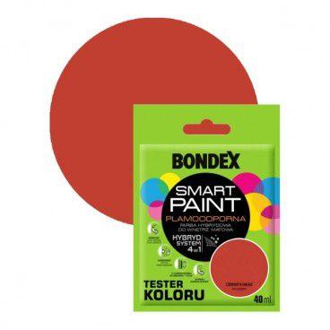 Tester farby Bondex Smart Paint czerwony w sam raz 40 ml