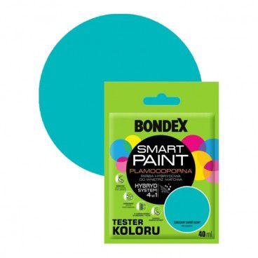 Tester farby Bondex Smart Paint turkusowy zawrót głowy 40 ml